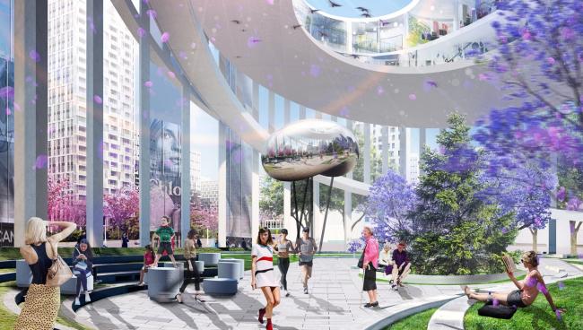 Центральная площадь – место проведения городских мероприятий круглогодичного использования. © UNK project