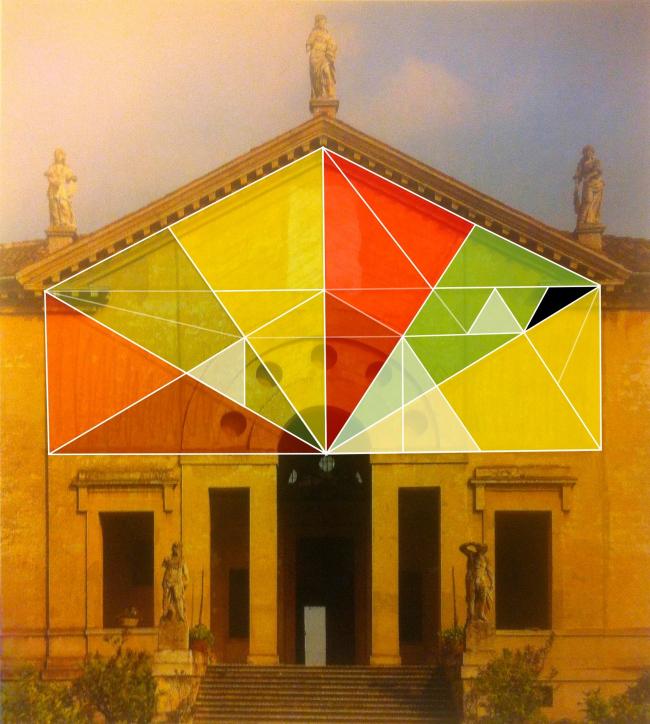 Вилла Пойяна. Калейдоскоп треугольников. Коллаж автора