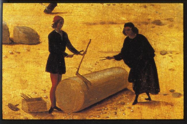 Пьеро ди Козимо, «Строительство дворца».