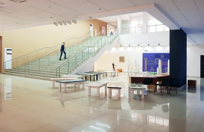 Восточный атриум северного крыла. Здание музея в «Новом Иерусалиме». Реализация, 2013 © АО «Сити-Арх». Фотография © Юлия Тарабарина, Архи.ру