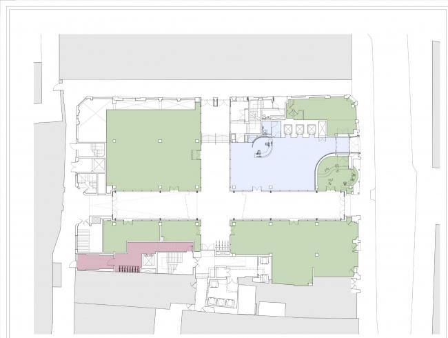 Комплекс на Чансери-лейн, 79-86. План первого этажа © Orms
