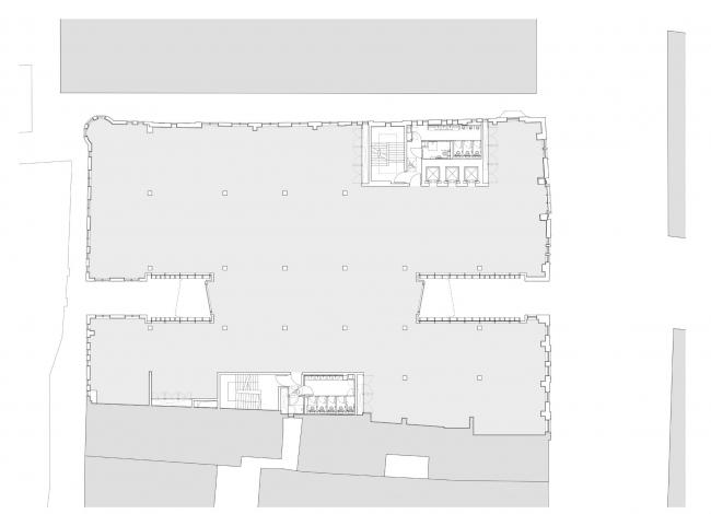 Комплекс на Чансери-лейн, 79-86. План типового этажа © Orms