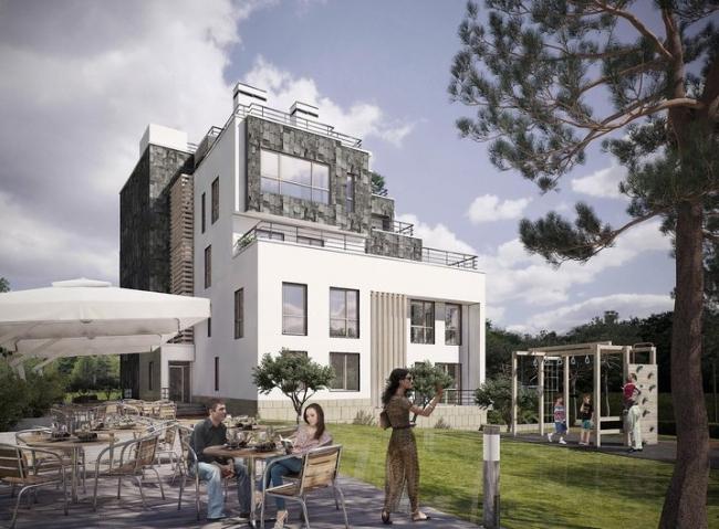 Проект «Апартамент-отель «FELLINI» в г. Геленджике». Авторский коллектив архитектурного бюро «Богачкин и Богачкин». Изображение предоставлено ИД «Строительный эксперт»