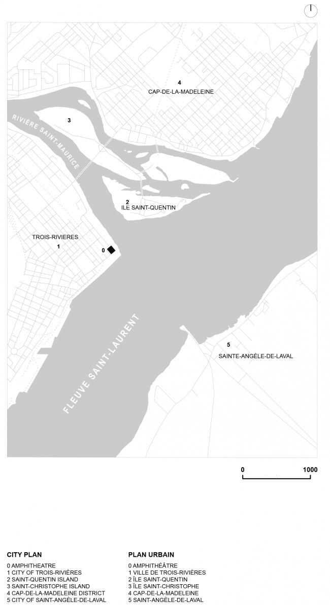 План города. Амфитеатр Cogeco. Изображение предоставлено Atelier Paul Laurendeau
