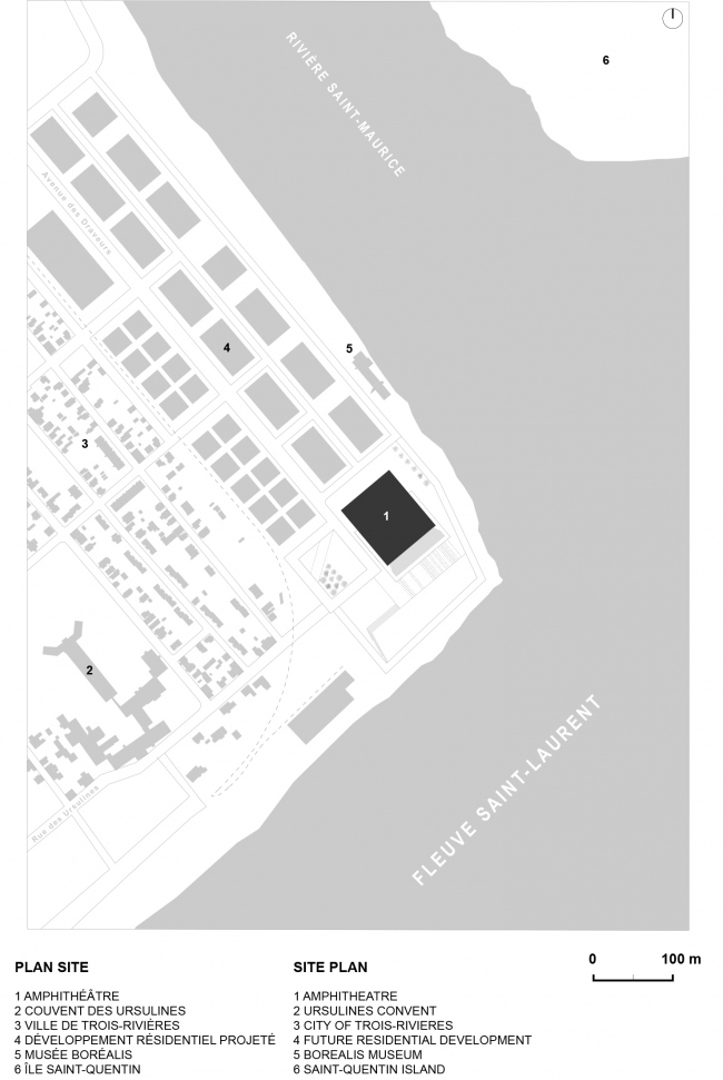 План участка. Амфитеатр Cogeco. Изображение предоставлено Atelier Paul Laurendeau