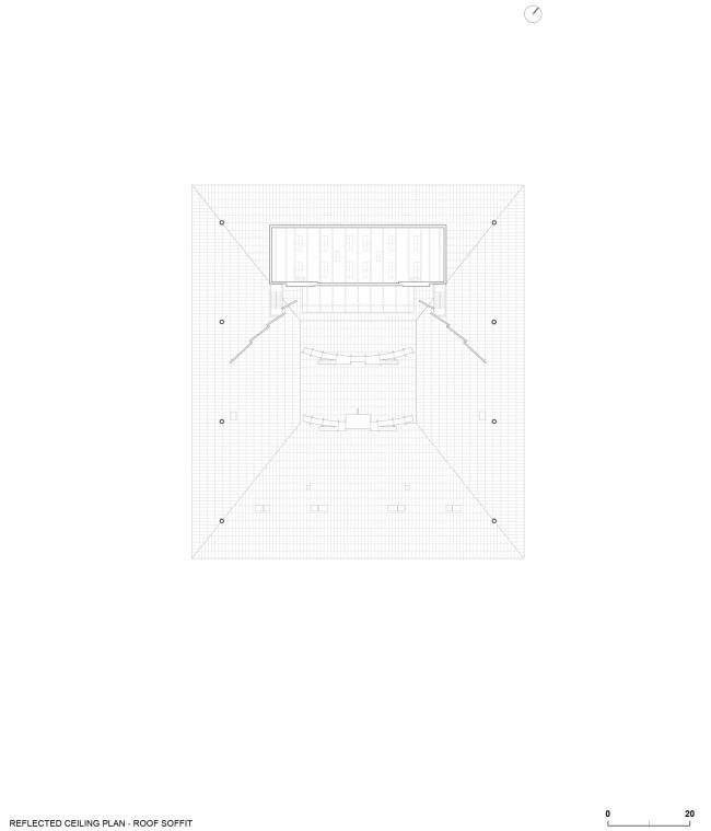 План подвесного потолка. Амфитеатр Cogeco. Изображение предоставлено Atelier Paul Laurendeau