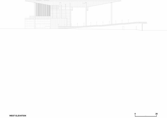 11Вид с западной стороны. Амфитеатр Cogeco. Изображение предоставлено Atelier Paul Laurendeau