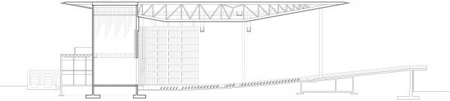 Профильный разрез.  Амфитеатр Cogeco. Изображение предоставлено Atelier Paul Laurendeau