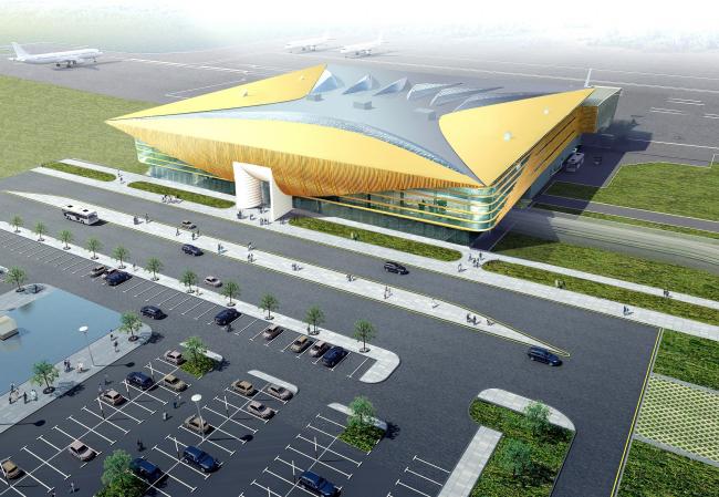 Новый пассажирский терминал аэропорта в Перми © Архитектурное бюро Асадова