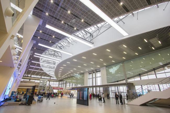 Новый пассажирский терминал аэропорта в Перми, 2016-2017. Интерьер © АБ Асадова