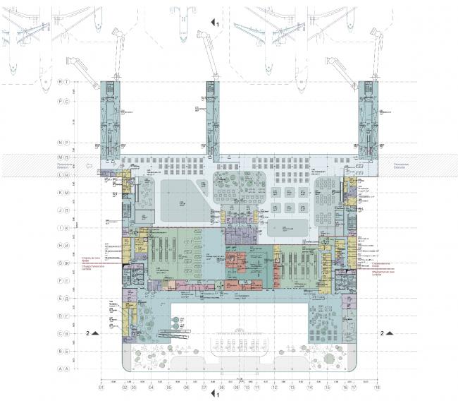 Новый пассажирский терминал аэропорта в Перми. План © Архитектурное бюро Асадова
