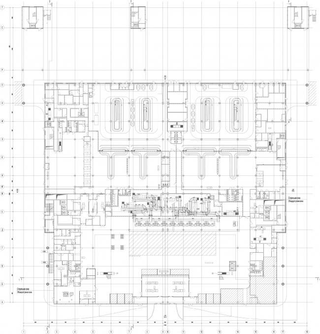 Новый пассажирский терминал аэропорта в Перми. План 1 этажа © Архитектурное бюро Асадова