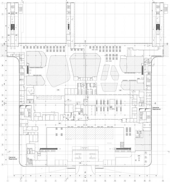 Новый пассажирский терминал аэропорта в Перми. План 2 этажа © Архитектурное бюро Асадова