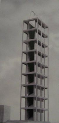 Иньяцио Гарделла. Конкурсный проект башни на Пьяцца-дель-Дуомо. 1934 г.