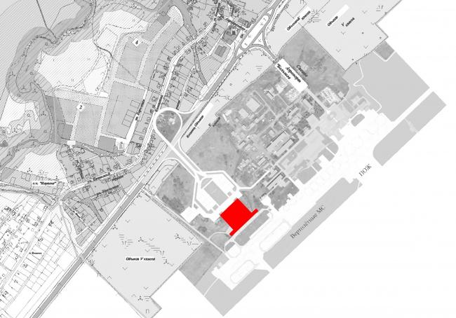 Новый пассажирский терминал аэропорта в Перми. Ситуационный план © Архитектурное бюро Асадова