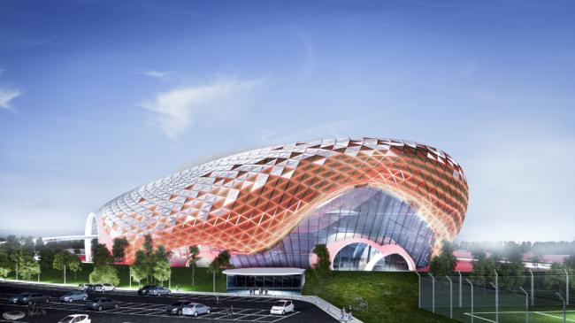 Проект стадиона «Синтез» в Воронеже. Автор: Логунова Алина, ВГТУ