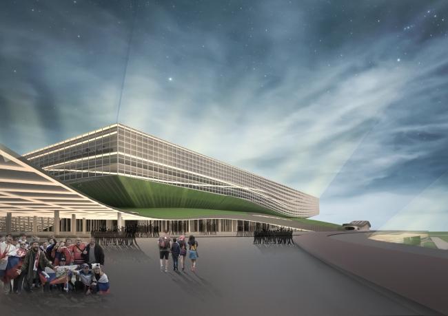 Проект стадиона «Арена Башкирия» в Уфе. Авторы: Бадритдинов Булат и Егорова Мария, УГНТУ