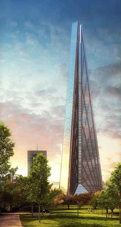 Foster&Partners. Проект башни «Россия» в ММДЦ «Москва-Сити», Москва