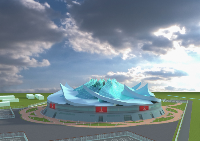 Проект стадиона в Севастополе. Авторы: Андреева Александра, Тюпин Владислав, ГУЗ