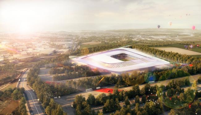 Проект стадиона в Севастополе. Автор: Салех Мария, РУДН