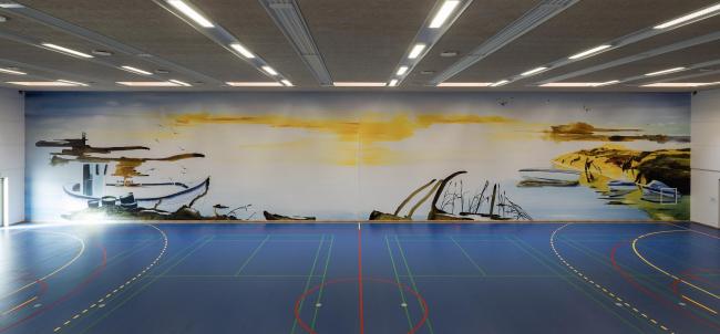 Тюрьма Сторстрём. Роспись работы Джона Кёрнера © Torben Eskerod