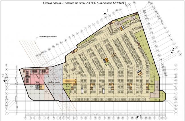 Многофункциональный торговый центр на Павелецкой площади © Мопроект-2