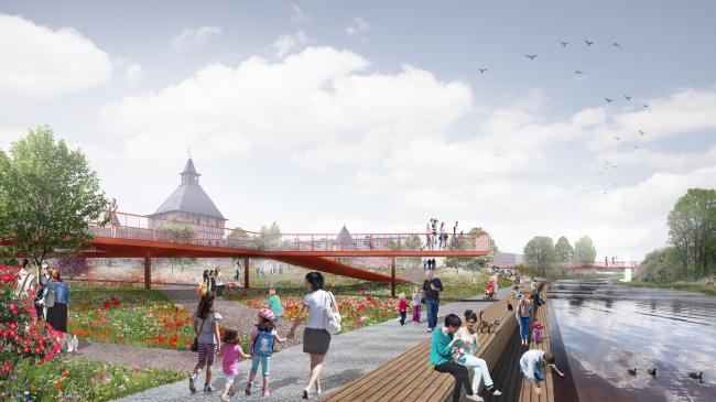 Проект реконструкции Тульской набережной © WOWHAUS
