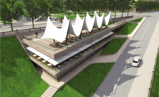 Ресторан на Притомской набережной © Архитектурная группа «Среда»