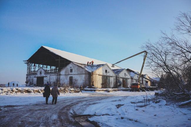 Состояние пакгаузов на Стрелке в Нижнем Ногороде. 26 декабря 2017 г. Фотография ©Юлия Гусева, Архи.ру