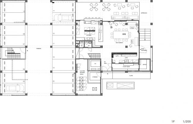 Отель и апартаменты Tamasa © Kawabe Naoya Architects
