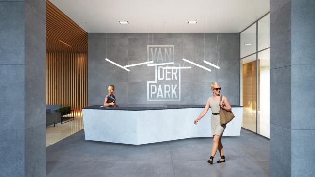Интерьер главного вестибюля комплекса © Проектное бюро АПЕКС