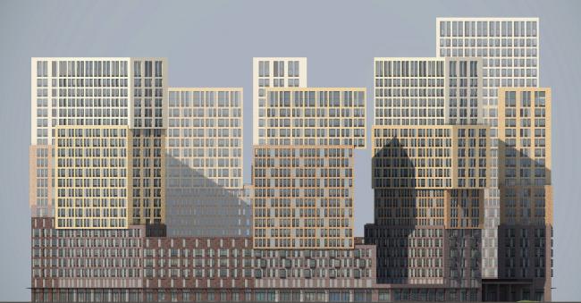 Фасад комплекса © Проектное бюро АПЕКС