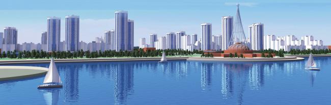 Эскиз застройки территории на ул. Рокоссовского