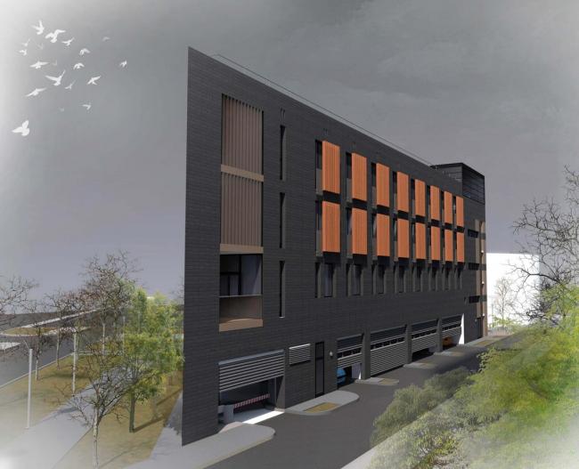 Общественный центр «Три угла» © Архитектурное бюро «Модерн проект»