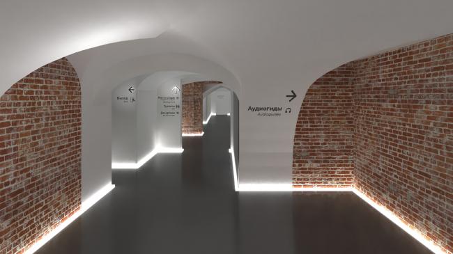 Проект обновления подвалов Юсуповского дворца в Петербурге © Архитектурное бюро «Народный архитектор»