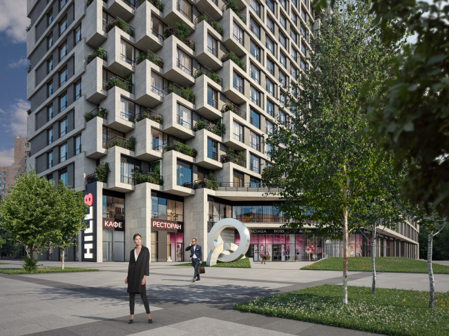 Апарт-отель с подземным паркингом на проспекте Мира © ABD architects