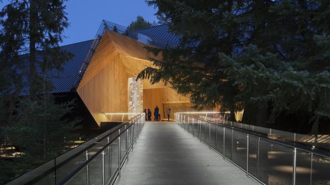 Художественный музей Одейна, Уистлер, Канада.  Patkau Architects. Изображение предоставлено Канадским советом по древесине
