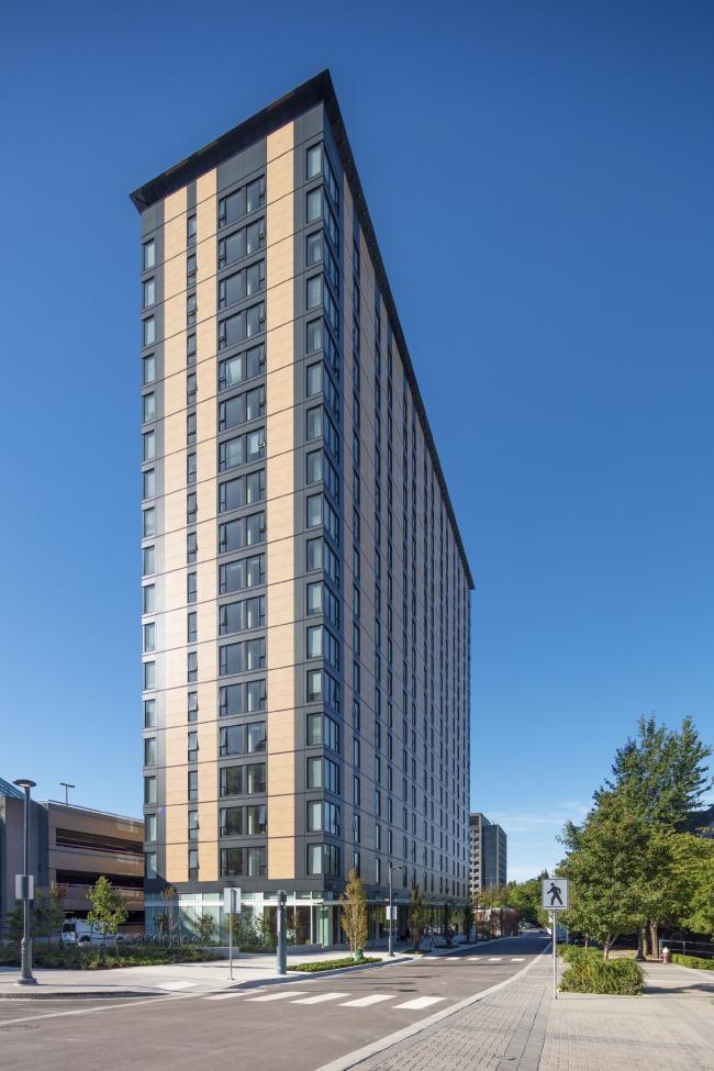 Студенческая резиденция Brock Commons Tallwood House, Ванкувер, Канада.  Acton Ostry Architects Inc. Изображение предоставлено Канадским советом по древесине