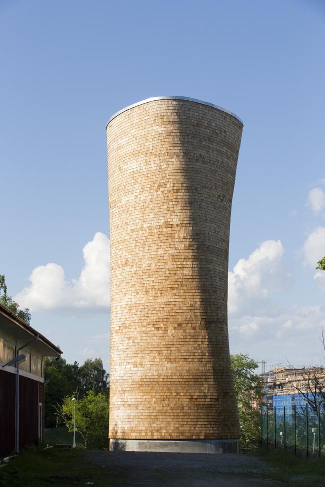 Деревянные вентиляционные башни, Стокгольм, Швеция.  Rundquist Architects. Изображение предоставлено Канадским советом по древесине