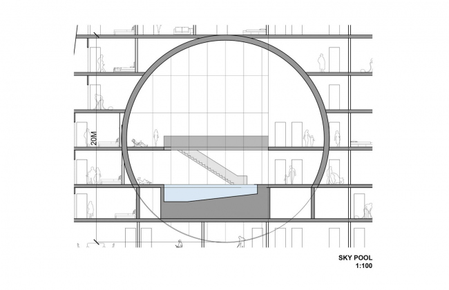 Жилой комплекс на месте Тушинского аэродрома. Изображение: Steven Holl Architects / арт-группа «Камень»