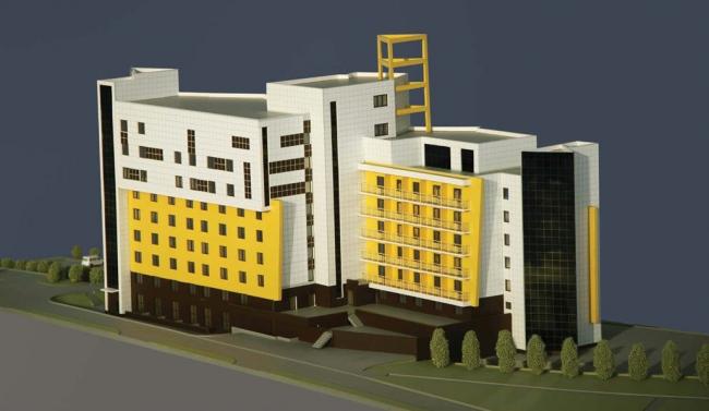 Административно-гостиничный комплекс по ул. Иркутской 30-й дивизии © Горпроект