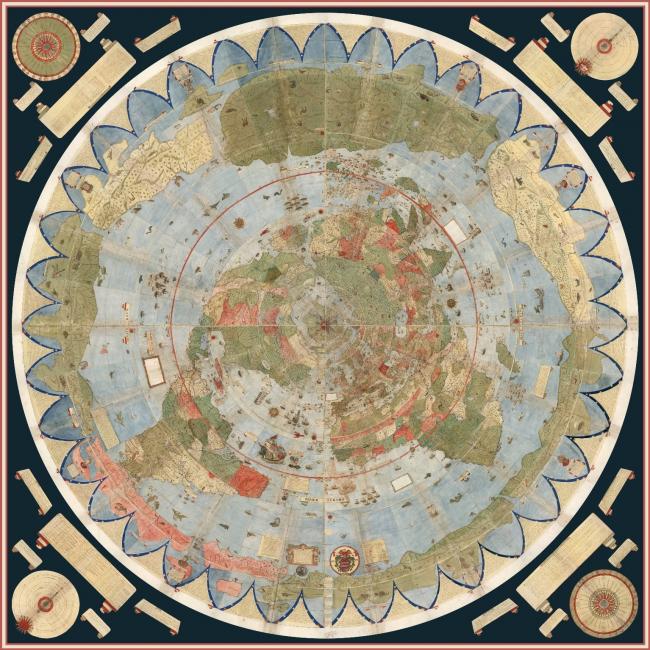 В сеть выложили оцифрованную карту мира эпохи Возрождения