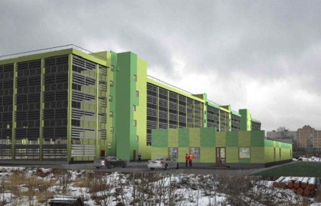 Многоэтажная стоянка на ул. Парковая © Моспроект-4
