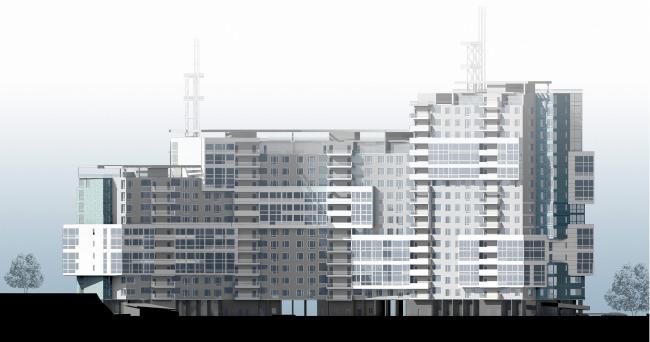 Жилой комплекс «Лайнер», г. Чебоксары © Архитектурное бюро Асадова
