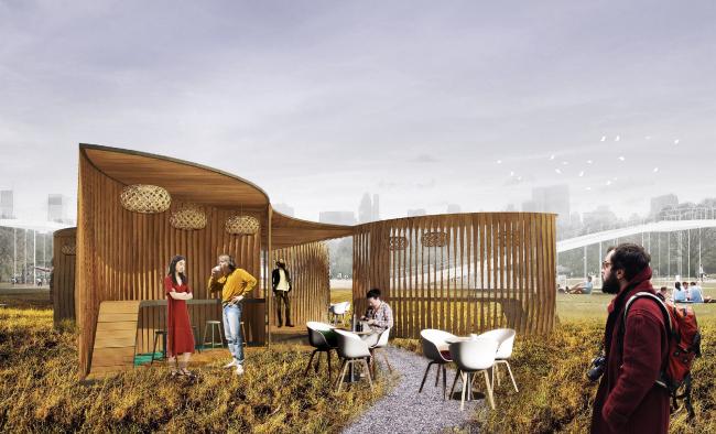 I место Archpoint Concept Awards в номинации «Концепция ресторана street food». Ресторан  «Бутон». Автор: Никита Тимонин (Санкт-Петербург)