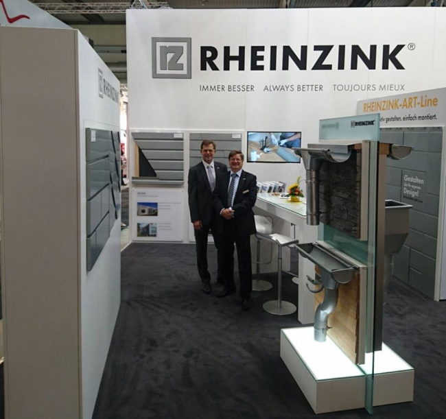 RHEINZINK на выставке кровельных и фасадных технологий Dach + Holz © RHEINZINK
