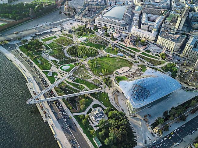 Парк «Зарядье». Изображение предоставлено дирекцией Московского урбанистического форума