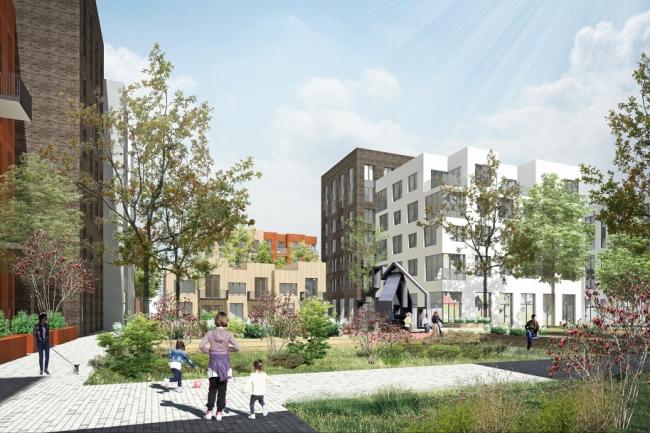 Концепция стандартного жилья для среднеэтажной модели застройки © Архитектурная группа ДНК, Россия