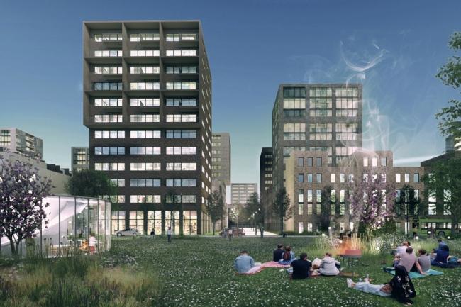 Концепция стандартного жилья для среднеэтажной модели застройки © DO ARCHITECTS, Литва