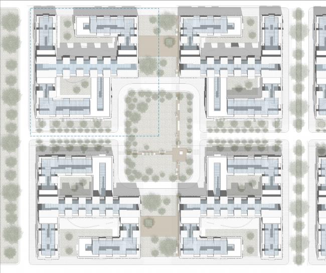 Центральная модель застройки © Luis Eduardo Calderón García